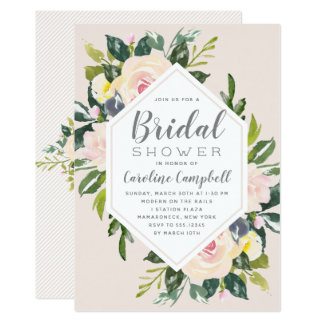 Spring Florals Blush | Bridal Shower Invitation