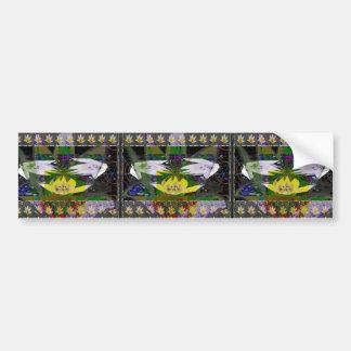 Spring Flower based Pattern Graphic Deco Art Gifts Car Bumper Sticker