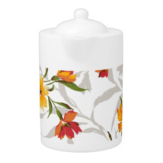 Spring Flower Blooms Teapot