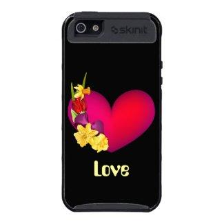 Spring Flower Bouquet Heart Valentine iPhone 5 Cases