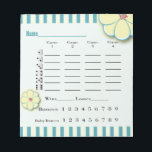 "Spring Flower Bunco Score Sheet Pad<br><div class=""desc"">Add some festive spring flowers to your Bunco party decor.  Easy to read Bunco score sheet pad helps your keep track of your Bunco score. Features pretty yellow flowers. Circle your Buncos and Baby Buncos (mini Buncos)</div>"