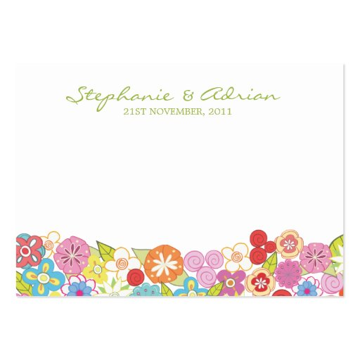 Spring Flower Engagement Thank You Gift Cards Business Card Templates