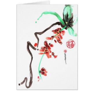 Spring Flower Fall Card
