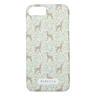 Spring Flower Fawns Pattern iPhone 7 Case