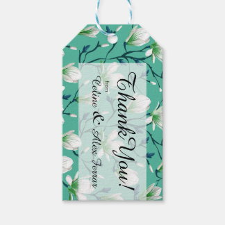 Spring Flower Garden | turquoise Gift Tags