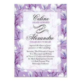 Spring Flower Garden Wedding | grape lilac Card
