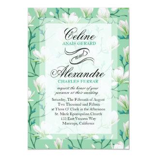 Spring Flower Garden Wedding | mint green Card