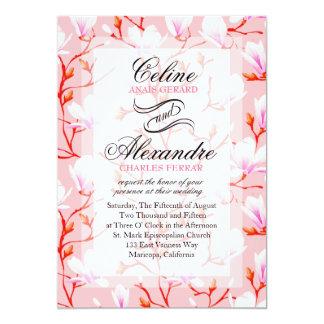 Spring Flower Garden Wedding | pink Card