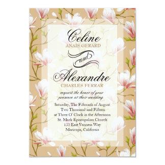 Spring Flower Garden Wedding | tan Card