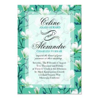 Spring Flower Garden Wedding | turquoise Card