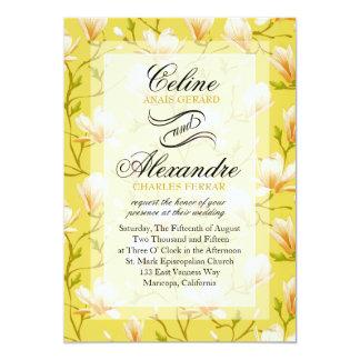 Spring Flower Garden Wedding | yellow Card