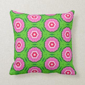 Spring flower pattern throw pillow