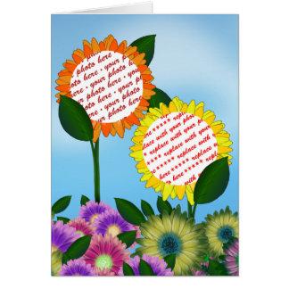 Spring Flower  Photo Frame Greeting Cards