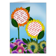 Spring Flower  Photo Frame Greeting Cards