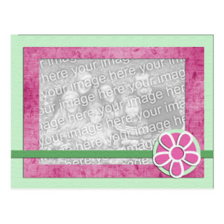 Spring Flower Photo Template Greeting Card