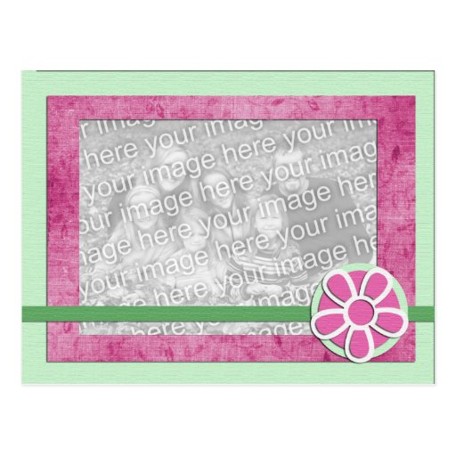 Spring Flower Photo Template Greeting Card Postcard