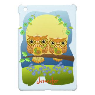 Spring flower power owls & custom name case for the iPad mini