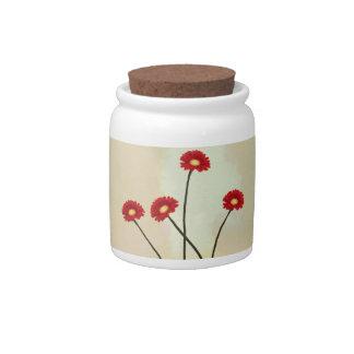spring flower shapes Candy Jar