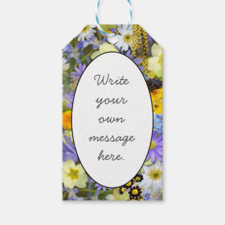 Spring Flower Smash Pack Of Gift Tags
