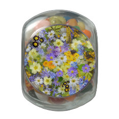 Spring Flower Smash Glass Jar at Zazzle