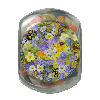 Spring Flower Smash Glass Jar