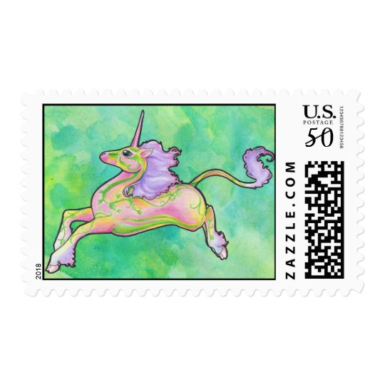 Spring Flower Unicorn Postage