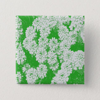 spring flower white and green button