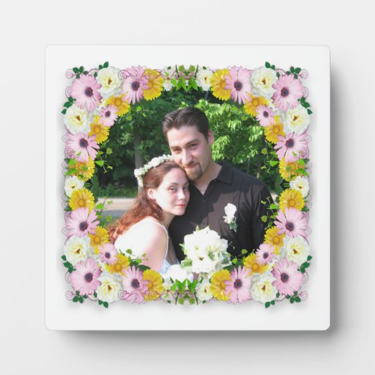 Spring Flower wreath photo frame
