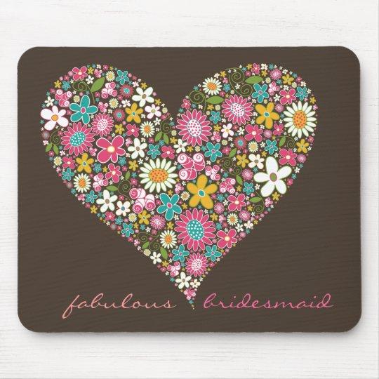 Spring Flowers 2 Heart *01   Wedding Mousepad