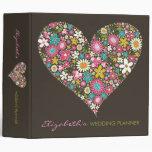 "Spring Flowers 2 Heart Love Wedding 2"" Binder"