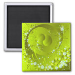 spring flowers 2 inch square magnet
