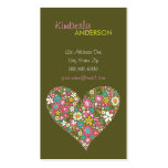 Spring Flowers 2 Valentine Heart Love Profile Card Double-Sided Standard Business Cards (Pack Of 100)
