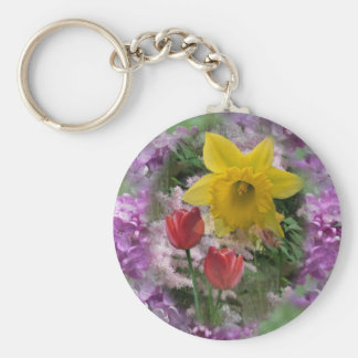Spring Flowers 3 Key Chains