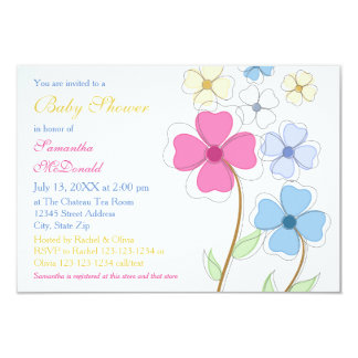 spring baby shower invitations announcements zazzle. Black Bedroom Furniture Sets. Home Design Ideas