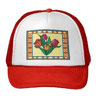 Spring Flowers 8 Mesh Hat