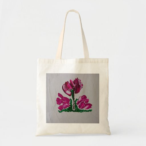 Spring Flowers! Abstract Flowers! Pink! Green! Tote Bag