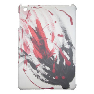 Spring Flowers! Abstract Tulip! Red! Black! Cover For The iPad Mini