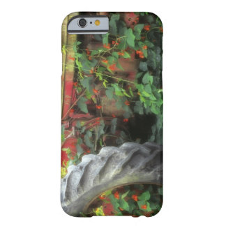 Spring flowers adorn an old tractor. barely there iPhone 6 case