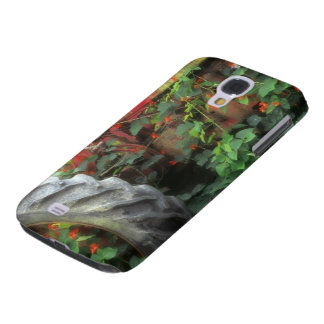 Spring flowers adorn an old tractor. galaxy s4 case