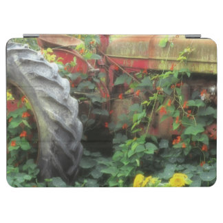 Spring flowers adorn an old tractor. iPad air cover
