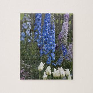 Spring flowers along a garden path, Georgia 2 Jigsaw Puzzle