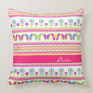 Spring flowers and butterflies Pillow