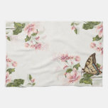 Spring Flowers and Butterfly Kitchen Towel
