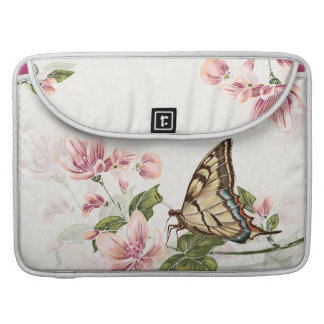 Spring Flowers and Butterfly Macbook Pro Sleeve