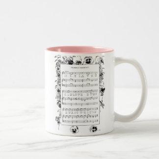 Spring Flowers and Froebel Kindergarten Song Mugs