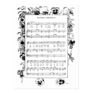 Spring Flowers and Froebel Kindergarten Song Postcards