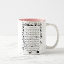 Spring Flowers and Froebel Kindergarten Song Two-Tone Coffee Mug