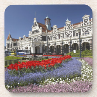 Spring Flowers and Historic Railway Station, Beverage Coasters