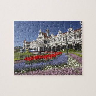 Spring Flowers and Historic Railway Station, Jigsaw Puzzle