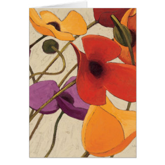Spring Flowers and Stems Card